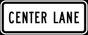 R3-5e Lane Control Plaque Regulatory Sign