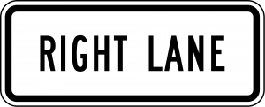 R3-5f Lane Control Plaque Regulatory Sign