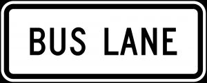 R3-5g Lane Control Plaque Regulatory Sign