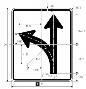 R3-5R Right Turn Only Regulatory Sign Spec