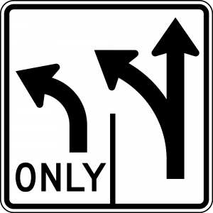 R3-8 Advance Intersection Lane Control Regulatory Sign