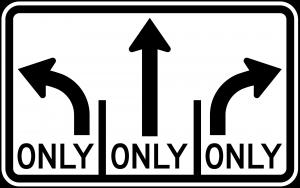 R3-8b Advance Intersection Lane Control Regulatory Sign