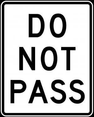 R4-1 Do Not Pass Regulatory Sign