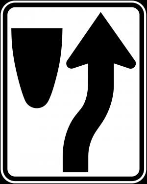 R4-7 Keep Right Regulatory Sign
