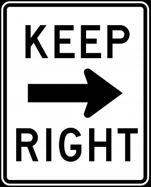 R4-7a Keep Right Regulatory Sign