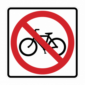 R5-6 No Bicycles Regulatory Sign
