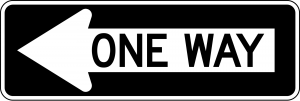 R6-1L One Way Regulatory Sign
