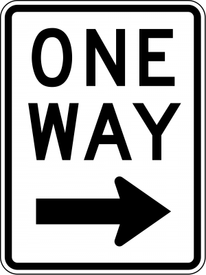 R6-2R One Way Regulatory Sign