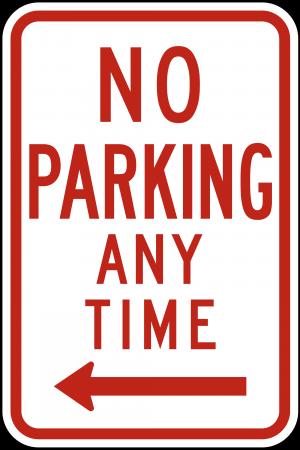 R7-1 No Parking Regulatory Sign
