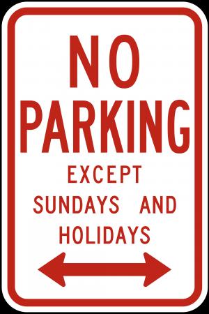 R7-3 No Parking Regulatory Sign