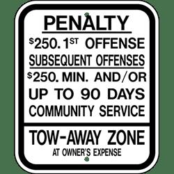 Regulatory Sign: R7-8 PENALTY SIGN