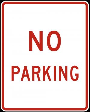 R8-3a No Parking Symbol Regulatory Sign