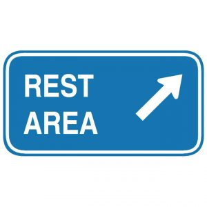 D5-2 Rest Area Exit Direction Guide Sign