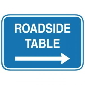 D5-5 Roadside Table Arrow Guide Sign