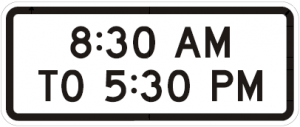 S4-1 8:30 am To 5:30 pm School Sign