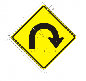 W1-11 Hairpin Curve Warning Sign Spec