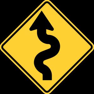 W1-5L Warning Sign