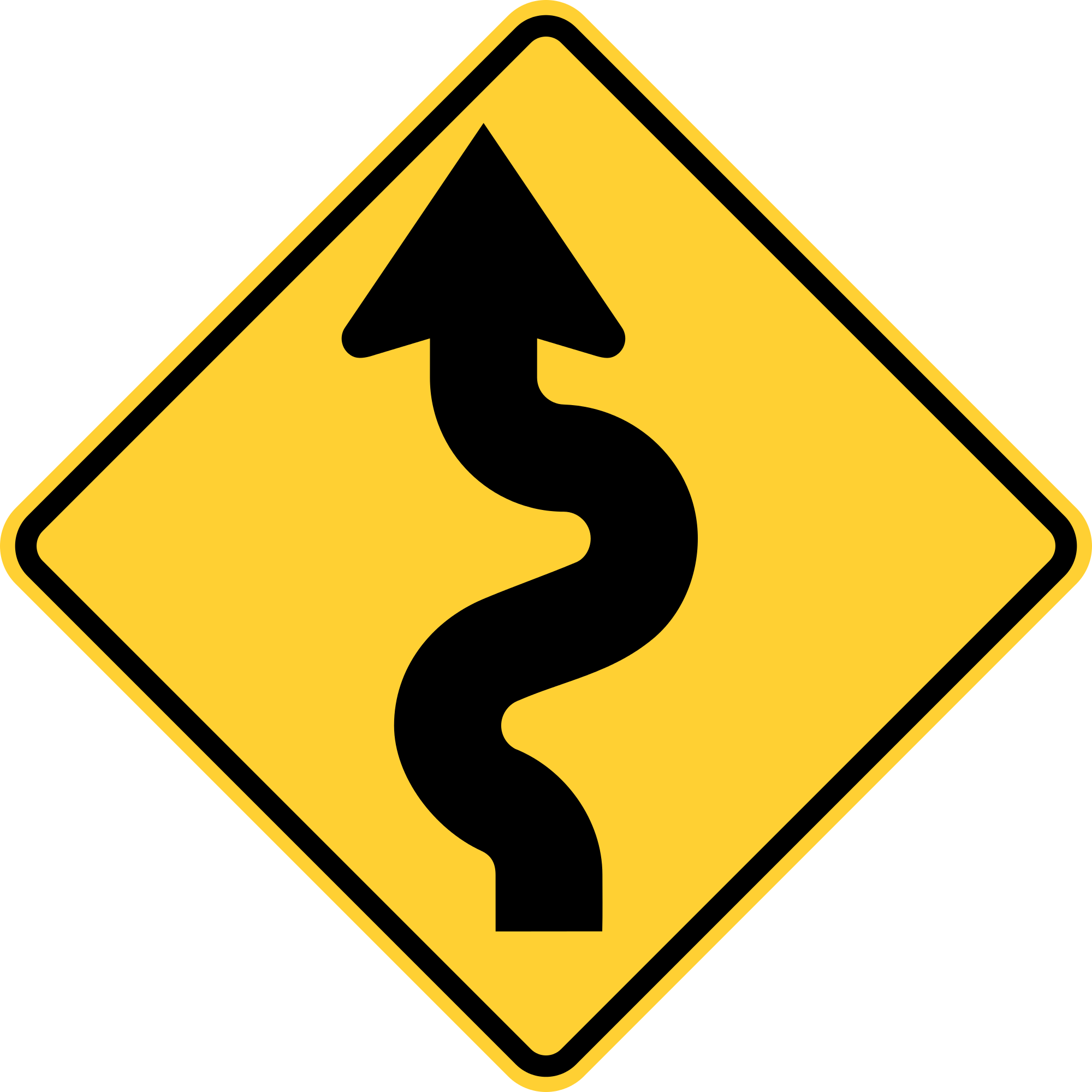 W1-5L Warning Sign