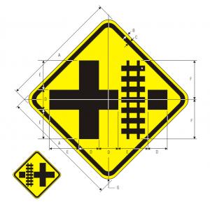 W10-2R Highway-Rail Grade Crossing Advance Warning Warning Sign Spec