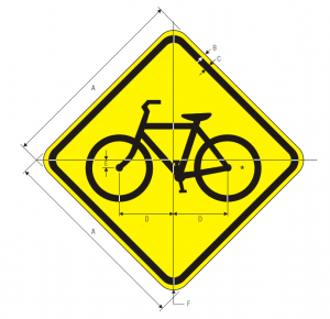 W11-1 Bicycle Traffic Warning Sign Spec