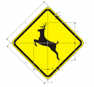 W11-3 Deer Traffic Warning Sign Spec
