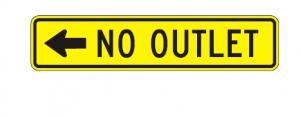 W14-2aL Nooutlet Warning Sign Spec