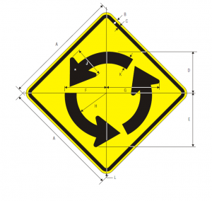 W2-6 Circular Intersection Warning Sign Spec