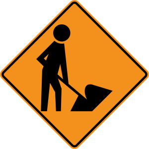 W21-1a Workers Warning Sign