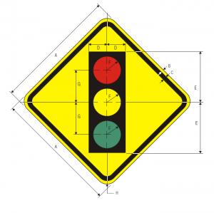 W3-3 Signal Ahead Warning Sign Spec