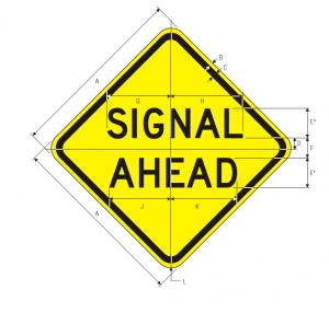 W3-3a Signal Ahead Warning Sign Spec