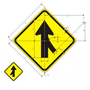 W4-1L Warning Sign Spec