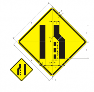 W4-2L Warning Sign Spec