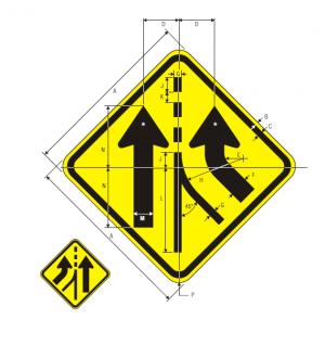 W4-3L Warning Sign Spec