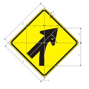 W4-5 Entering Roadway Merge Warning Sign Spec