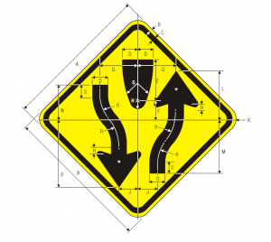 W6-1 Divided Highway Warning Sign Spec