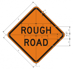 W8-8 Rough Road Warning Sign Spec