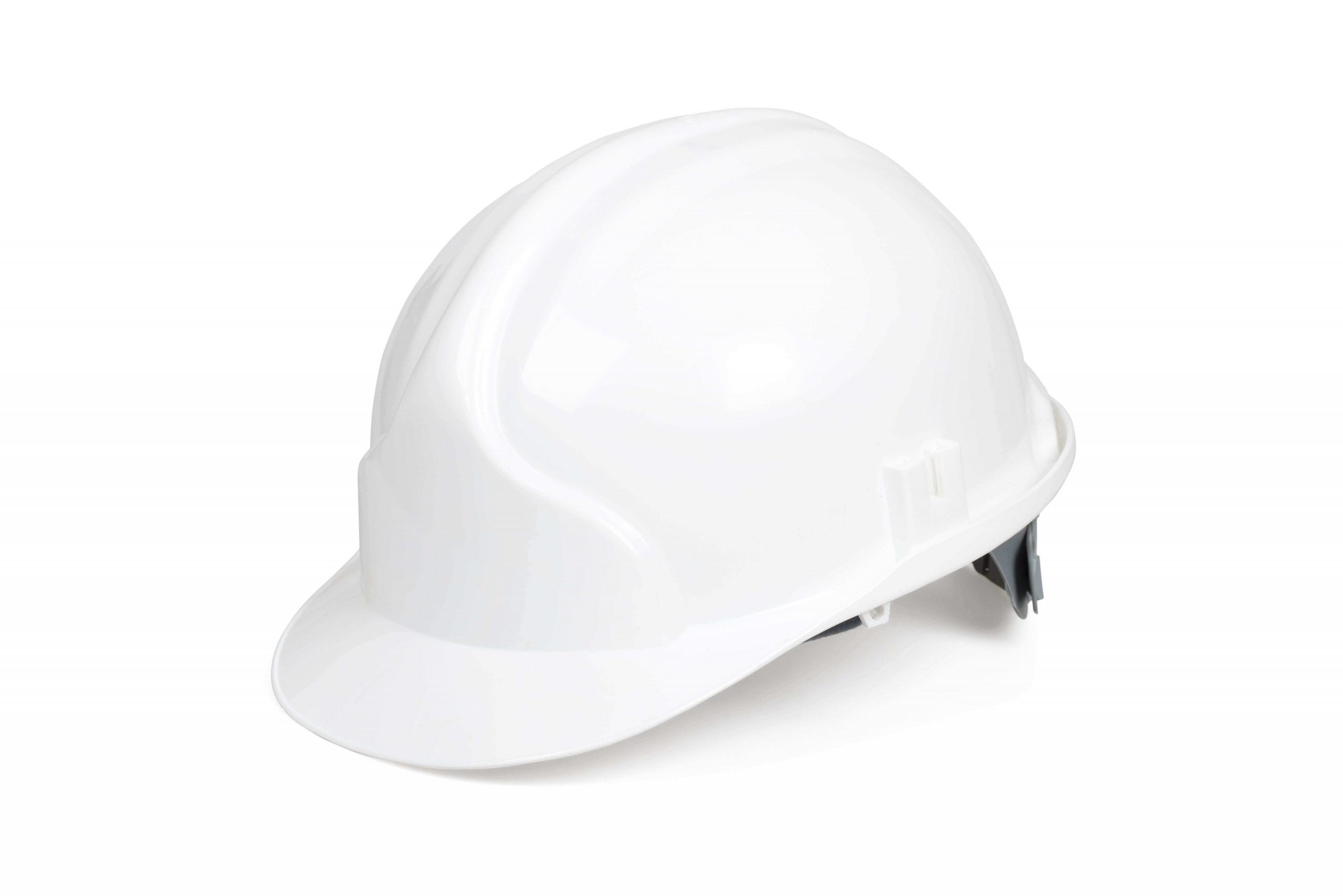 White HDPE Hard Hat Apparel